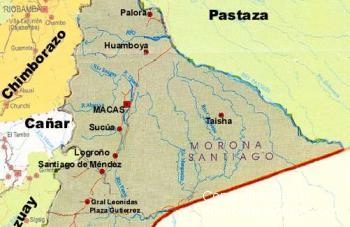 Karte von Morona Santiago Ecuador