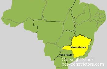 Brasilien Karte Minas Gerais